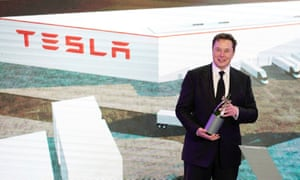 Elon Musk attends a Tesla event in Shanghai on 7 January.