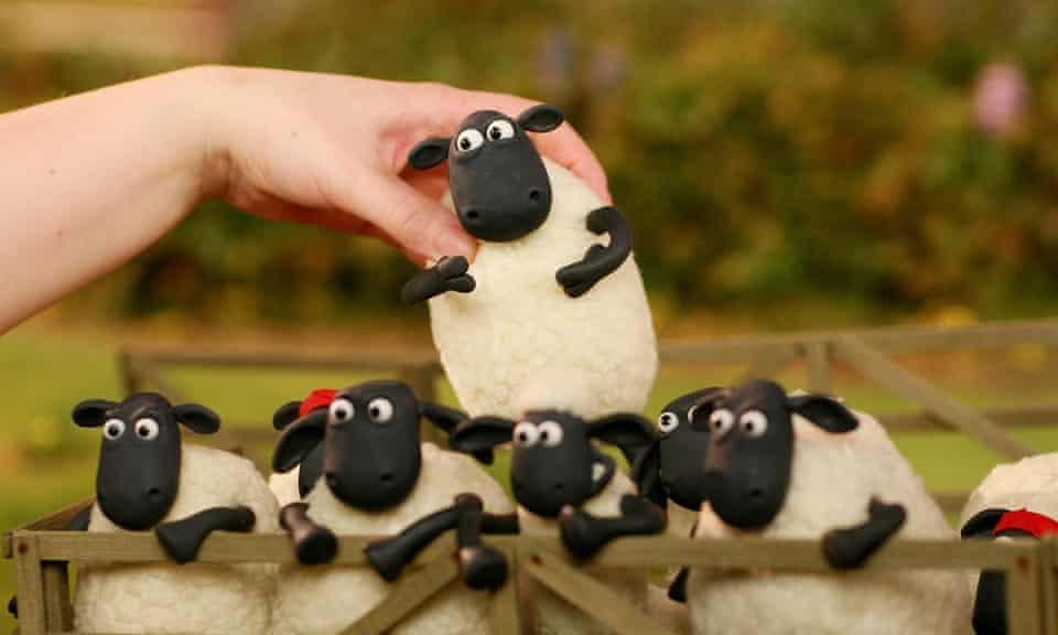 Animator at work on Shaun the Sheep