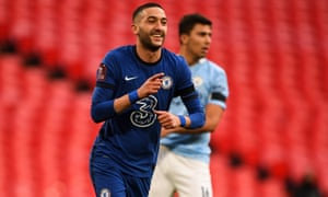 Hakim Ziyech celebrates his goal.