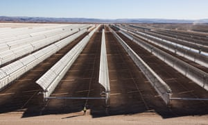 Morrocco's solar energy plant at Quarzazate: the largest concentrated solar power plant in the world, it will generate enough electricity to power a million homes.