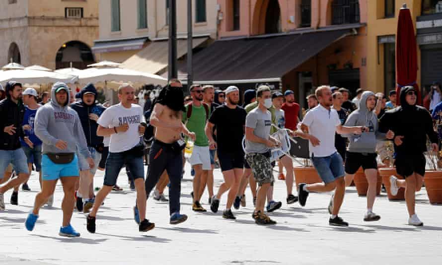 Russian fans in Marseille, France