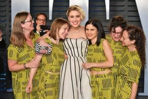 Greta Gerwig attends the 2018 Vanity Fair party