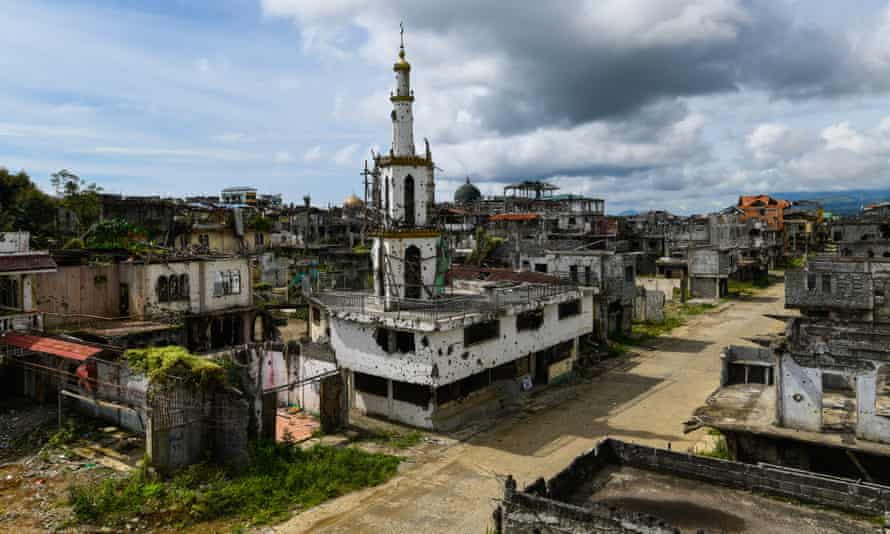 The ruined city of Marawi, which was taken over by Isis in May 2017 and recaptured after a five-month battle