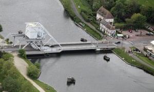 Caen canal near Pegasus Bridge