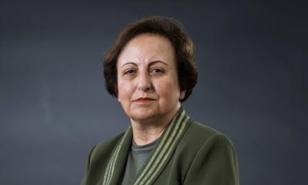 The Nobel peace prize-winning human rights lawyer Shirn Ebadi.