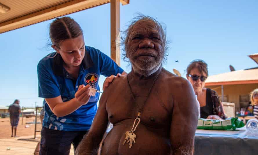 Members of the local community getting vaccinated against coronavirus