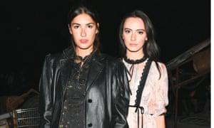 models Patricia Manfield and Olivia Perez