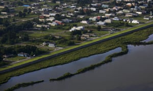 The Lower Ninth Ward in New Orleans, one of the areas worst hit by Hurricane Katrina, in 2015. New Orleans now has the largest flood barrier in the world.