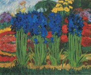Emil Nolde, Flower Garden (O), 1922.