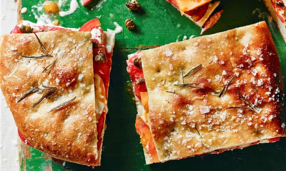 The best tomatoes on Focaccia by Gabriel Pryce. The Observer's 20 best tomato recipes supplement. Food Stylist: Kim Morphew Prop stylist: Tamzin Ferdinando