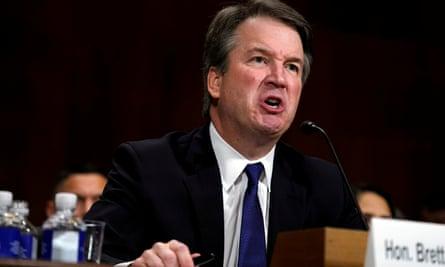 Supreme court nominee Brett Kavanaugh testifies before the Senate judiciary committee on 27 September.