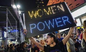 A recent protest against US supreme court nominee Brett Kavanaugh In New York.