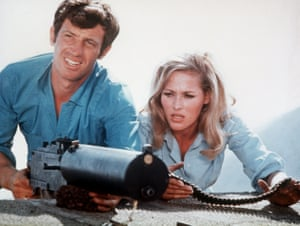 Jean-Paul Belmondo and Ursula Andress in Up to His Ears, 1965