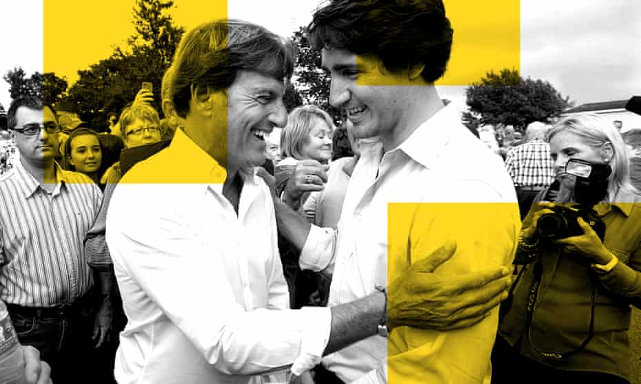 Stephen Bronfman, the Liberal party's chief fundraiser, and Justin Trudeau in 2013.