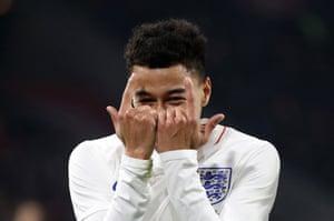 England's Jesse Lingard celebrates scoring
