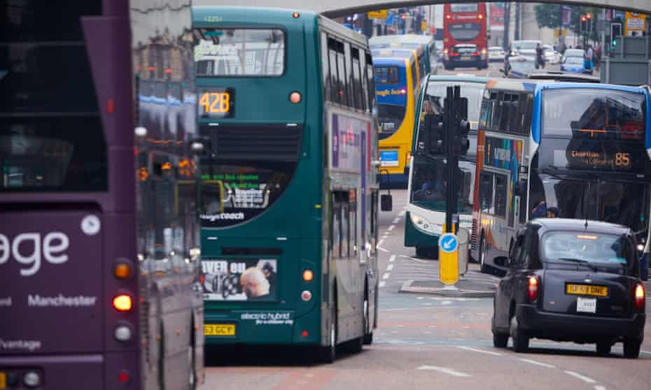 Buses on Oxford Road, Manchester
