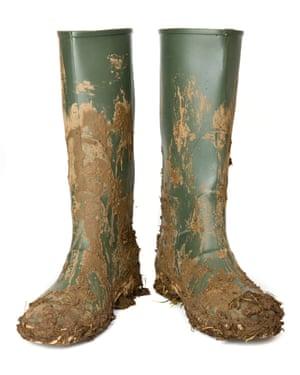 Wellington boots.