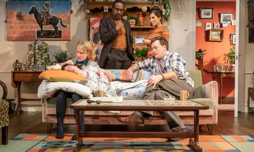 Rich and relevant … Storme Toolis, Claire Skinner, Clarence Smith, Toby Stephens and Lucy Eaton in A Day in the Death of Joe Egg.