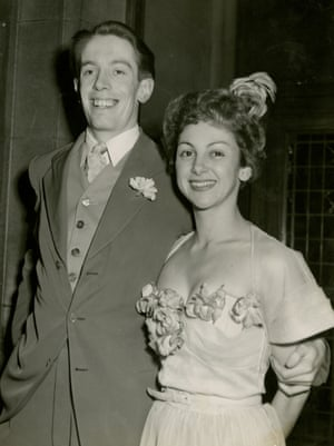 Kenneth Tynan and Elaine Dundy on their wedding day in 1951