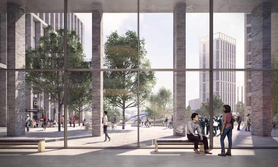 An artist's impression of the University of Bristol Temple Quarter Enterprise Campus.