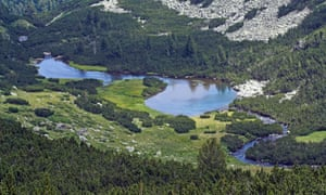 Lakes in Pirin national park in Bulgaria