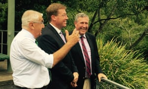 Nationals state MPs Thomas George, Troy Grant and Duncan Gay in Lismore to announce a coal seam gas licence buy-back before the election.