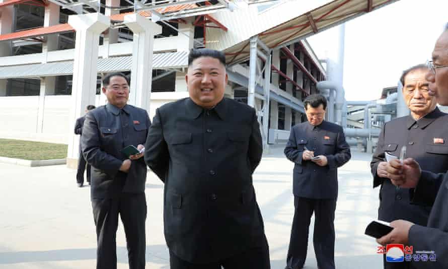 Kim Jong-un attends the completion of a fertiliser plant north of Pyongyang