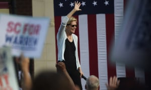 Elizabeth Warren hosts a campaign event in Rock Hill, South Carolina. A new poll found that 45% of black Democrats in South Carolina back Biden compared to just 4% who favor Warren.