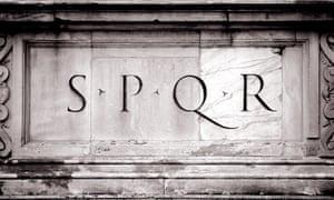 The initials of the Roman empire, SPQR