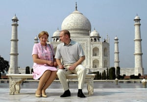 The Russian president, Vladimir Putin, with his then-wife, Lyudmila, in October 2000