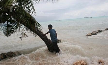 King tides flood property on Kiribati