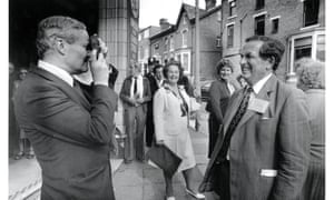 Tony Benn and Denis Healey during the Labour party Conference in 1981.