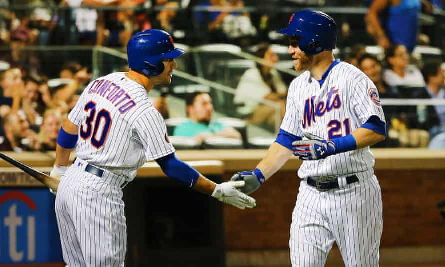 Todd Frazier (right) and Michael Conforto both played in the Little League World Series, and are now teammates on the Mets
