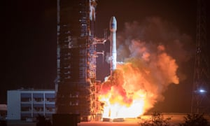 A rocket launches two Chinese satellites last month