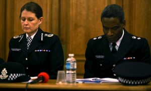 Met assistant commissioner Helen King and chief superintendent Victor Olisa