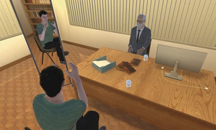 Virtual reality therapy session
