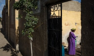 The poor neighbourhood of the 'City of the Dead' in Cairo, Egypt