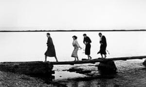 Gunnar Björnstrand, Harriet Andersson, Lars Passgård and Max Von Sydow in Ingmar Bergman's Through a Glass Darkly