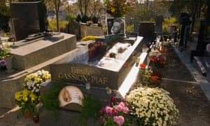The Piaf family plot at Père Lachaise cemetery, Paris, France