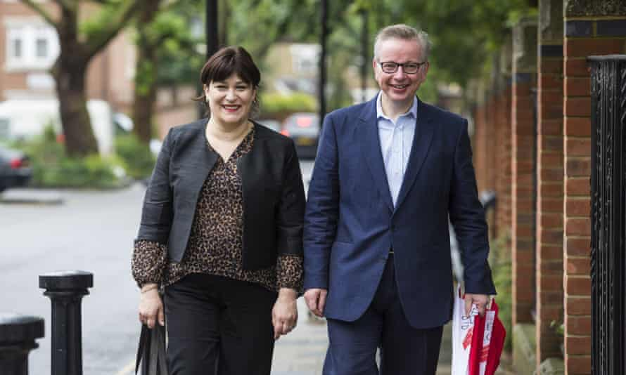 Michael Gove with his wife Sarah Vine.