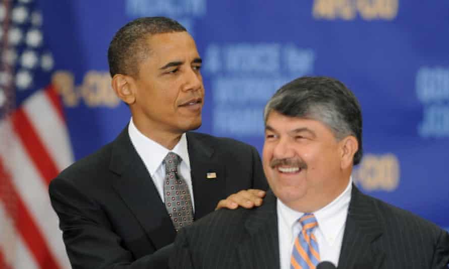 Trumka with Barack Obama in 2010.