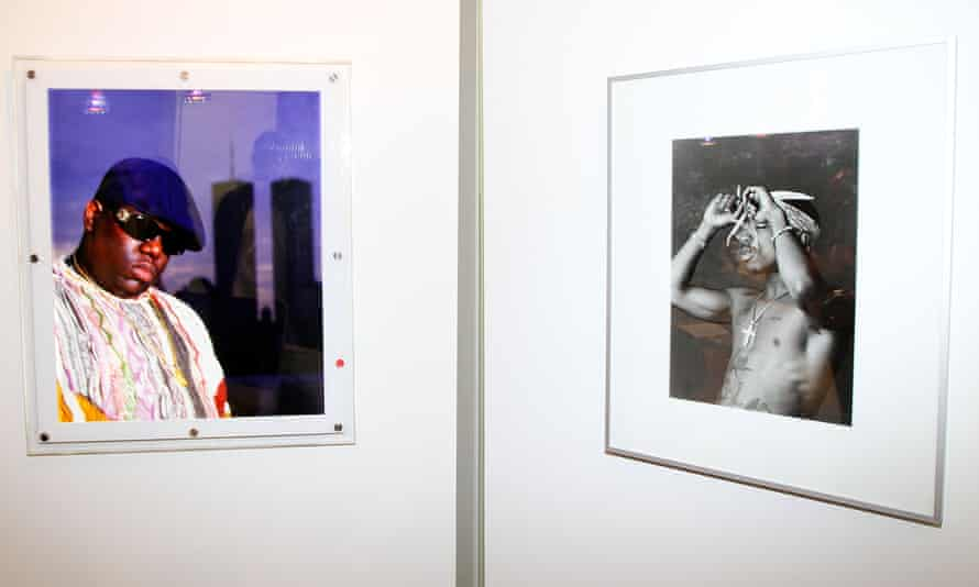 Photographs of Biggie and Tupac taken by Chi Modu at an exhibition of his work at Smile Gallery in 2012.