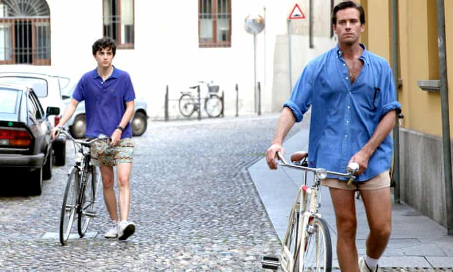 Armie Hammer and Timothée Chalamet in Call Me By Your Name