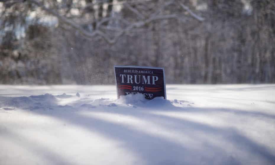 trump sign in snow