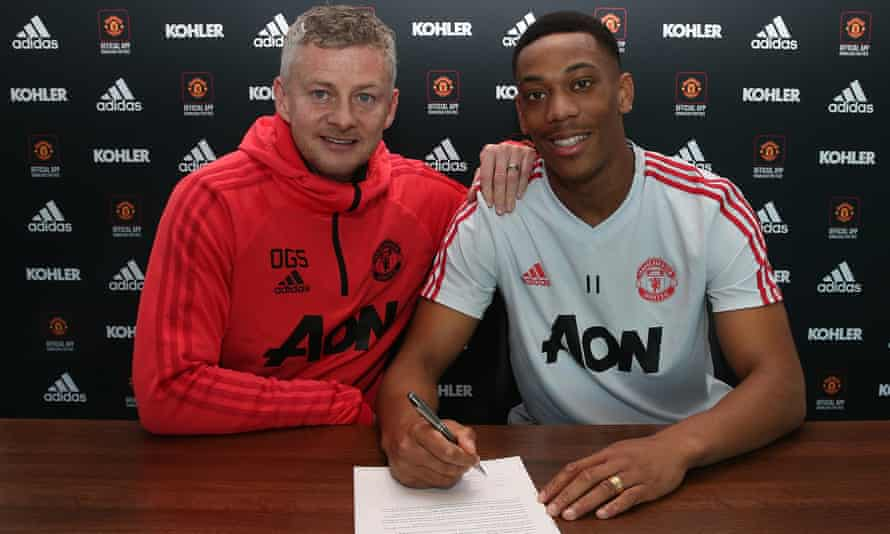 Anthony Martial and Ole Gunnar Solskjær