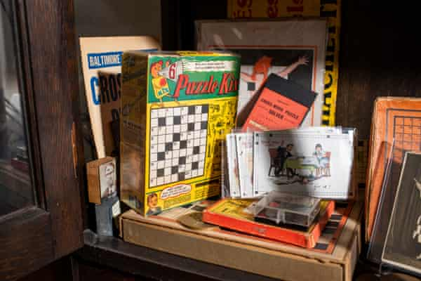 Will Shortz collects crossword-themed antiques at his home in upstate New York.