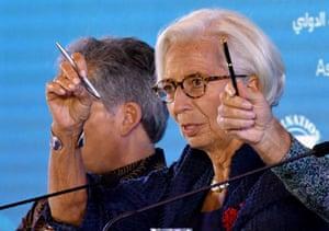 International Monetary Fund chief Christine Lagarde today