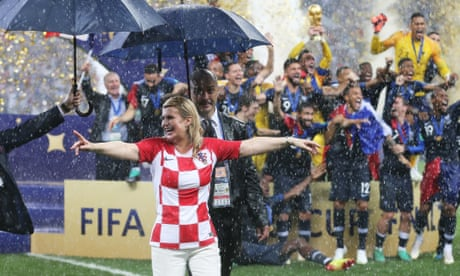 Croatia's real World Cup star? The president in the stands