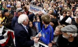 Bernie Sanders in Carson City, Nevada, this week.