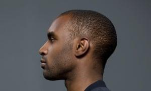 Man's ear, from side.